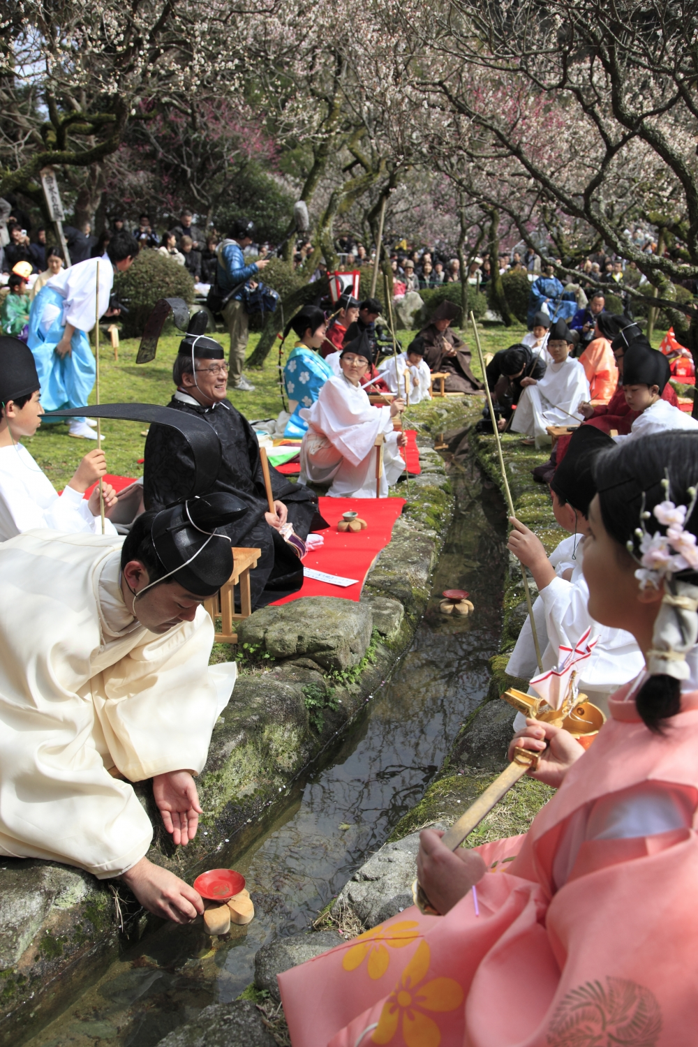 Traditional Festival  Kyokusui-no-En (Poetry Writing and Water Party)